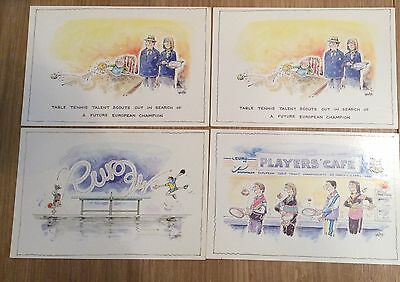 European Table Tennis Championships 1994 Set Of 4 Postcards