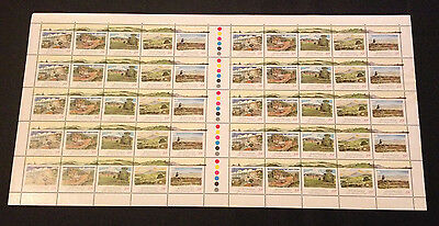 Rare Not Folded Full Sheet 50 Australian MNH 1989 Pastoral Era 39c Stamps