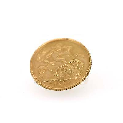 22ct Yellow Gold Half Sovereign Coin dated 1982
