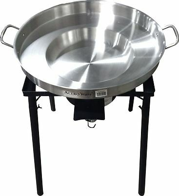 "Acero Ware Cooker with 38,000 BTU Cast Burner & 23"" Stainless Steel Comal"