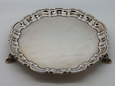 Antique Silver Salver / Waiter Sheffield 1967 – Elkington & Co Ltd 364g