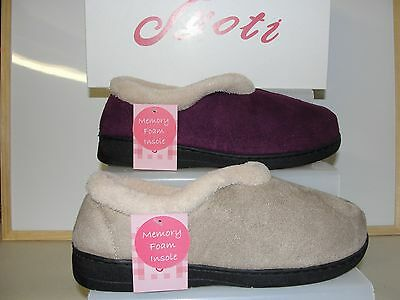 NEW LADIES COMFY JYOTI FULL SLIPPERS - sizes 3 - 8