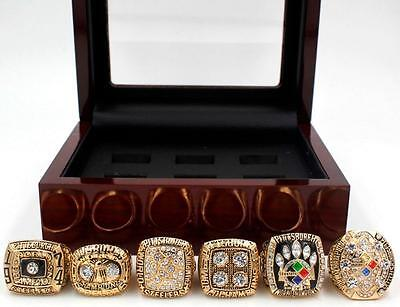 Wooden Box 1974 1975 1978 1979 2005 2008 Pittsburgh Steelers Championship Ring