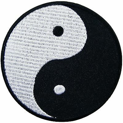 Yin Yang Tao Taoism Aum Om Yoga Symbol Hippie Chinese Peace Iron-On Patch #AU029