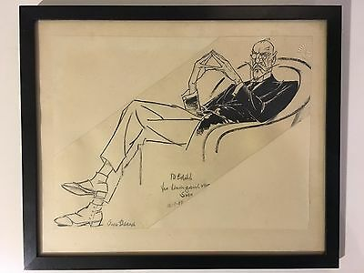 Original Drawing by Sven Brasch  to Edith 1964. Man in Chair.