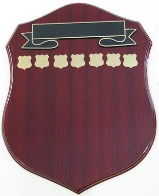 Perpetual Shield Trophy Plaque 440mm Timber Engraved FREE
