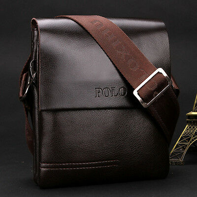 New Business Leather Laptop Briefcase Handbag Messenger Shoulder Casual Bag Mens