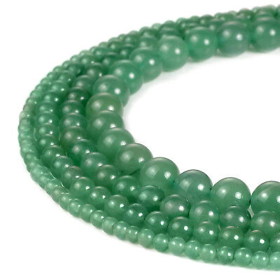 4-8mm Natural Round Aventurine Beads Loose Gemstone Beads for Jewelry Making 15""