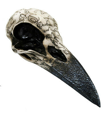 Nemesis Now Edgar's Raven Skull Mythical Figure Wiccan Pagan Occult Size 21cm