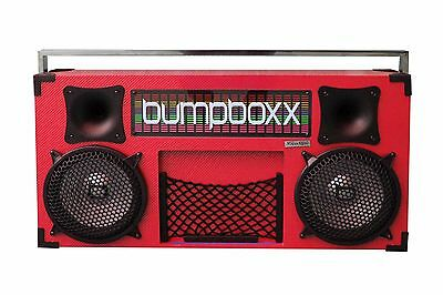 New Bumpboxx - The Worlds Largest & Loudest Bluetooth Boombox Speakers - Red