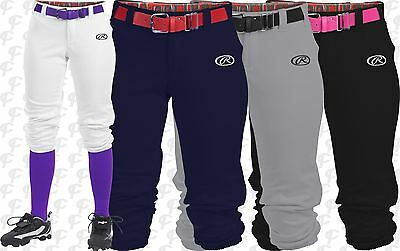 Rawlings Launch Womens Fastpitch Softball Pants WLNCH White, Black, Grey, Navy