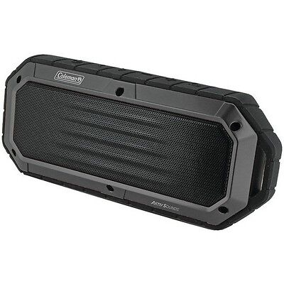 Coleman CBT16-GY Aktiv Sounds Waterproof Bluetooth Slim Line Speaker Gray