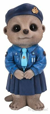 Brand New Girl Guide Meerkat Garden Ornament