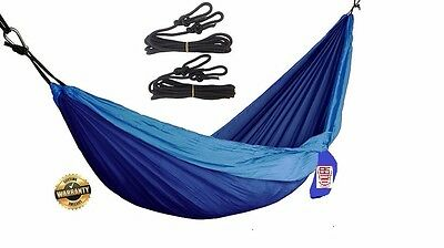 Hammock - Double Lightweight Portable Camping Hiking backyard with treestraps