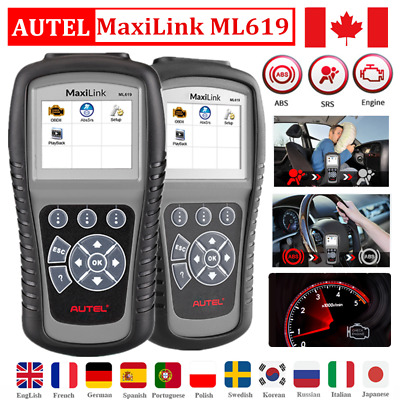 Autel AL619 OBD2 Auto Scanner For SRS ABS Engine Fault Code Reader Update Online