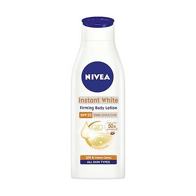 Nivea Instant White Firming Body Lotion SPF Whitening Q10 Collagen Authentic