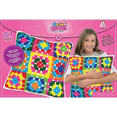 Colorbok Sew Cute Crochet Granny Squares Pillow (73208) **NEW**