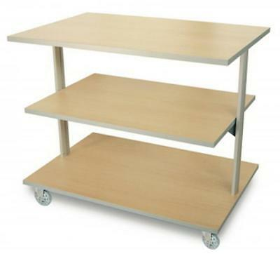 Display On Wheels To 3 Levels To Display Items From Wood Shop Cm. 123X80X97H