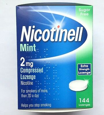 Nicotinell Mint 2mg Compressed 144 Lozenge Nicotine Sugar Free Exp 07/2018