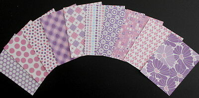 10 Beautiful  *CANDY HUES* 11cm x 14cm Scrapbooking/Cardmaking papers