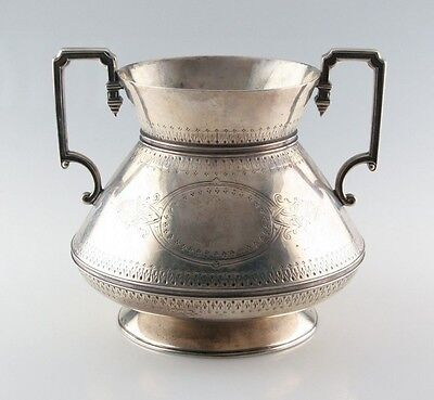 Antique Sterling Silver Art Deco Trophy Cup by Frederick Elkington & Co. C. 1874