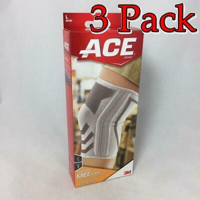 Ace Knitted Knee Brace w/Side Stabilizers, Large, 1ct, 3 Pack 051131198203A812