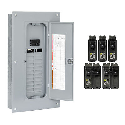 Square D 48-Circuit 24-Space 100-Amp Main Breaker Load Center Electrical Panel