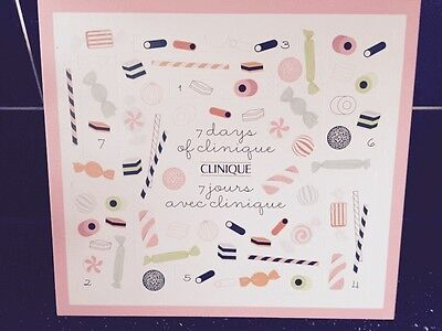 Genuine CLINIQUE 7 Days of Christmas Beauty Advent Calendar Calender Gift NEW