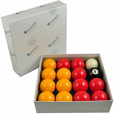 Aramith Standard English Pool Balls - Reds & Yellows - SPECIAL OFFER