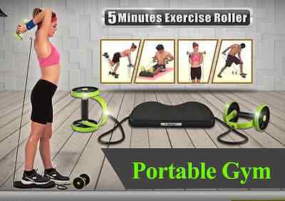 Portable Gym Abdominal Fitness AB Roller Pull Rope Lose Weight Lose shaper