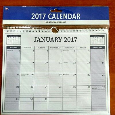 2017 Calendar Monthly Page Format Office Supplies Planner Appointment 12-Month