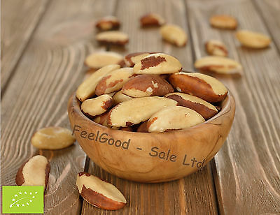 1kg Large Organic Certified Brazil Nuts Whole Raw Edible FREE POSTAGE