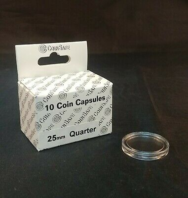 COIN CAPSULES + TUBE - 2 OZ. ROUNDS - (39mm) - 10 Total
