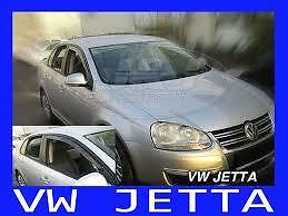 VW Jetta Yrs 05 - 09  4 Piece Tinted Wind Deflectors Front & Rear Doors