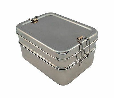 Green Essentials Three-in-One Tuck -A -Stacker Stainless Steel Lunch Box