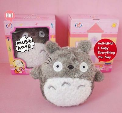 Talking Toy Cute My Neighbor Totoro Soft Plush Doll Kid Sound Music Game Toy