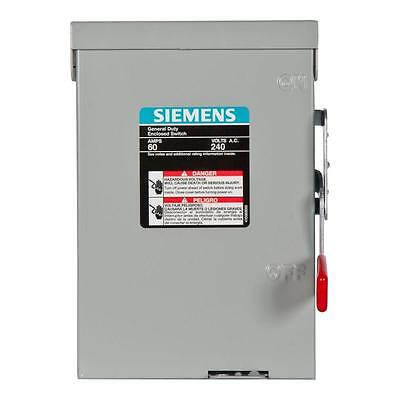 NIB Siemens LNF222RU 60-Amp 240-Volt Dbl-Pole Outdoor Non-Fusible Safety Switch