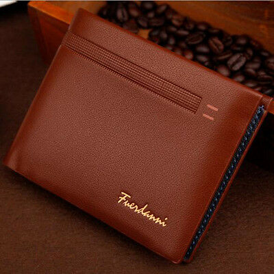 Quality Men Leather Trifold Billfold Credit Cards Wallet Holder Purse Clutch New