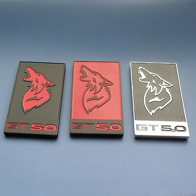 Mustang Coyote Grill or Trunk Badge - 5.0 Emblem -GT350 Style- All Metal Design