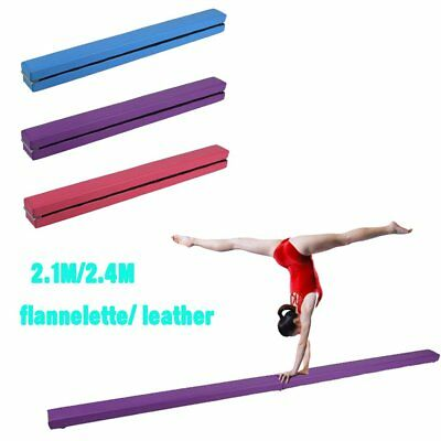 UK New Suede Gymnastics Folding 8ft Balance Beam 2.1/2.4/3 M Home Training Mat