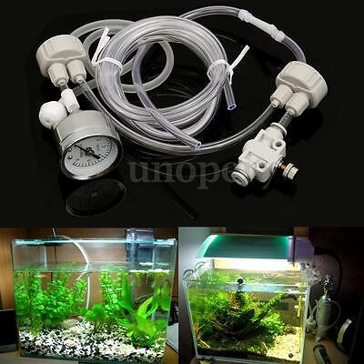 DIY CO2 System Kit CO2 Reactor Planted Marine Aquarium Tank Fish + Air Tubing