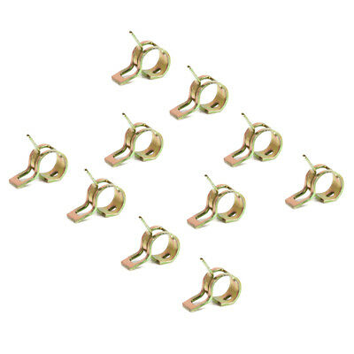 10pcs Spring Clip Fuel Line Hose Water Pipe Air Tube Clamps Fasteners 9mm