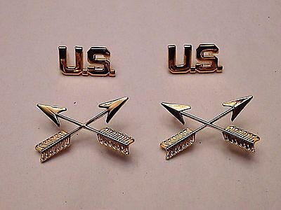 U.s. Army Special Forces Officer's Collar Insignia Set - Unusual Style