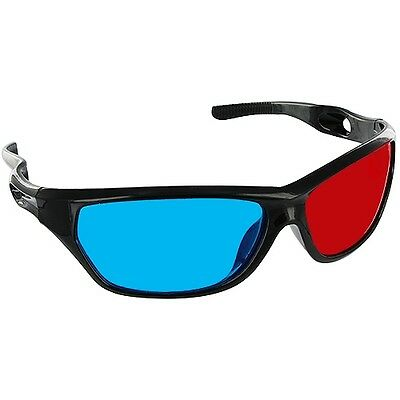 2X Black Frame Red Blue 3D Glasses For Dimensional Anaglyph Movie Game DVD