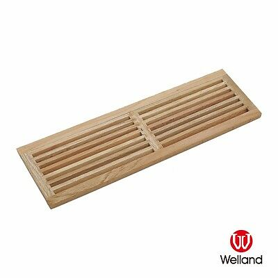 """WELLAND 8"""" x 32"""" Red Oak Wood Register Cold Air Return Wall Vent 8x32 Grille"""