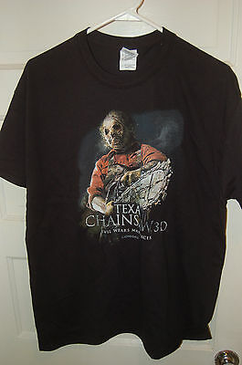 leatherface Texas Chainsaw Massacre horror movie promo tshirt film crew shirt