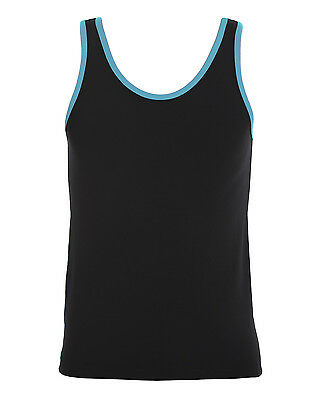 Energetiks Male Contrast Tank BNWT Turquoise/Black Various Sizes