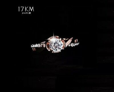 New Design Fashion Noble Plated 18K Gold Zircon Crystal diamond Rings jewelry Gf