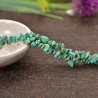 Green Howlite Turquoise Gemstone Freeform Beads 32''Strand 5x9MM