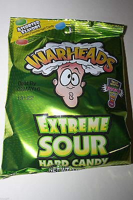 2 x WARHEADS EXTREME SOUR Hard Candy 56g each bag